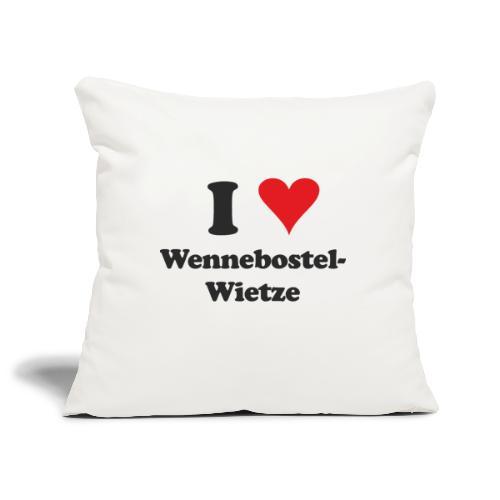 I Love Wennebostel-Wietze - Sofakissenbezug 44 x 44 cm