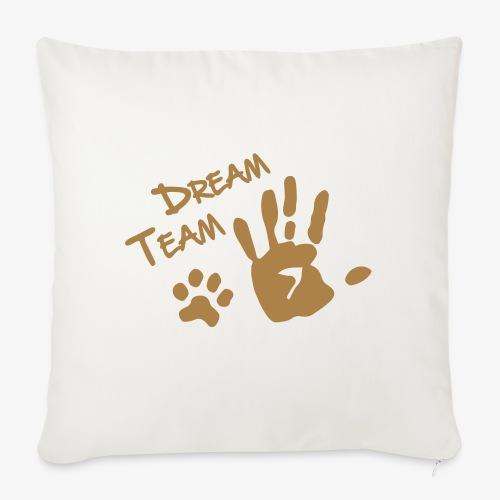 Dream Team Hand Hundpfote - Sofakissenbezug 44 x 44 cm