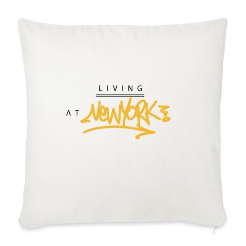 Living @ New-York Street Letters - Housse de coussin décorative 45x 45cm