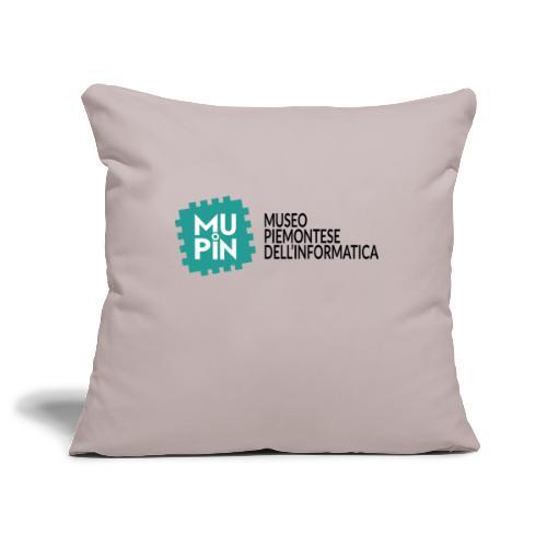 Logo Mupin con scritta - Copricuscino per divano, 45 x 45 cm