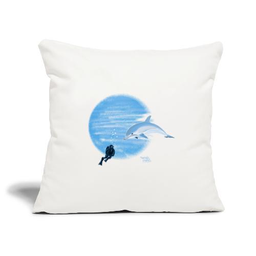 Dolphin and diver - Maillots - Housse de coussin décorative 45x 45cm