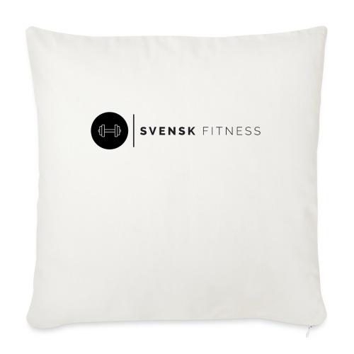 Svart logo - Soffkuddsöverdrag, 45 x 45 cm
