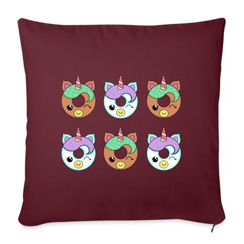 Unicorn Donut - Copricuscino per divano, 45 x 45 cm