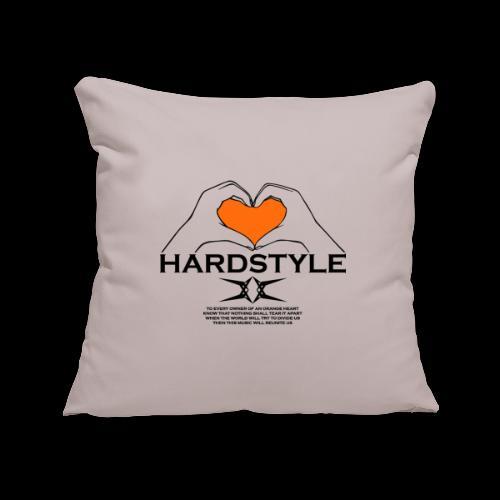 Hardstyle = My Style - Owner Of An Orange Heart - Sierkussenhoes, 45 x 45 cm