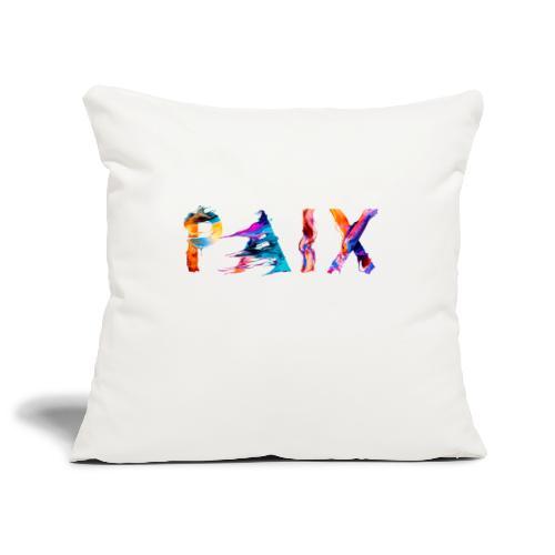 Paix - Housse de coussin décorative 45x 45cm