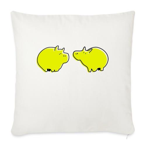 Cochons jaunes - Housse de coussin décorative 45x 45cm
