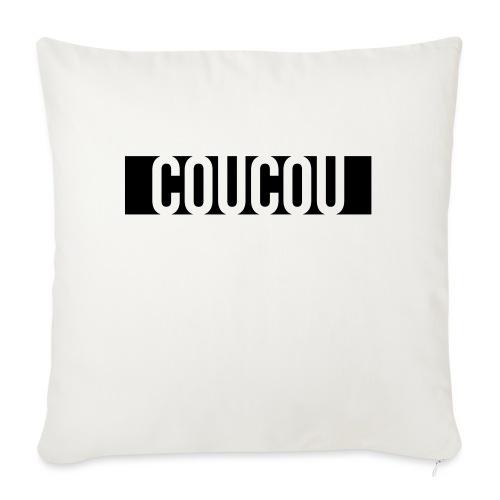 Coucou [1] Black - Housse de coussin décorative 45x 45cm