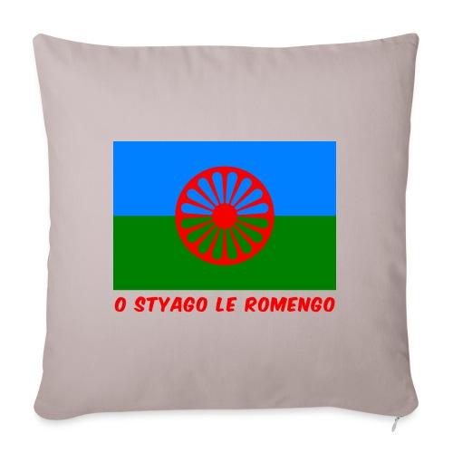 o styago le romengo flag of romani people t-shirt - Copricuscino per divano, 45 x 45 cm