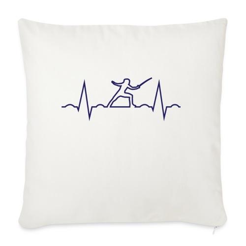 cardio scherma - Copricuscino per divano, 45 x 45 cm