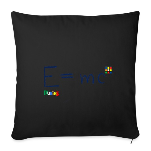 Rubik's E = mc Blue - Sofa pillowcase 17,3'' x 17,3'' (45 x 45 cm)
