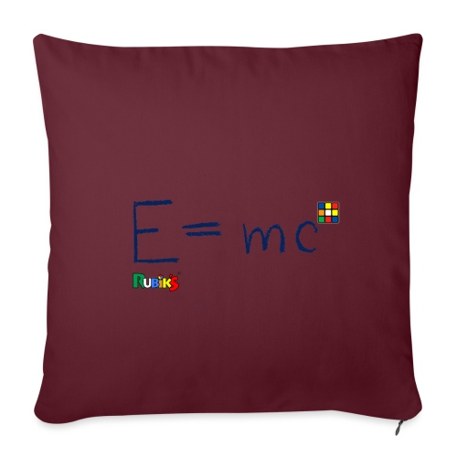 Rubik's E = mc Blue - Sofa pillowcase 17,3'' x 17,3'' (45 x 45 cm)