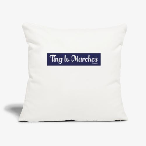 Ting lu Marches - Copricuscino per divano, 45 x 45 cm