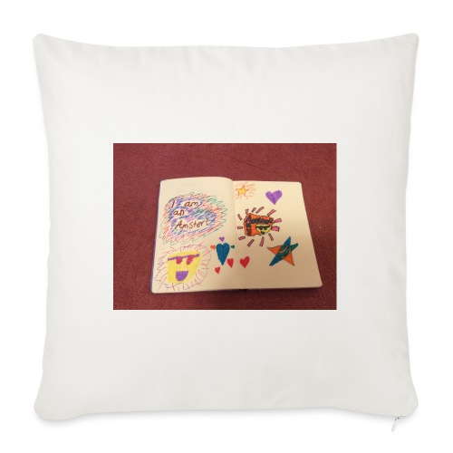 I am a Amster or Awesome Amy logo - Sofa pillowcase 17,3'' x 17,3'' (45 x 45 cm)