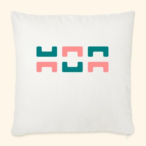 Hoa original logo v2 - Sofa pillowcase 17,3'' x 17,3'' (45 x 45 cm)