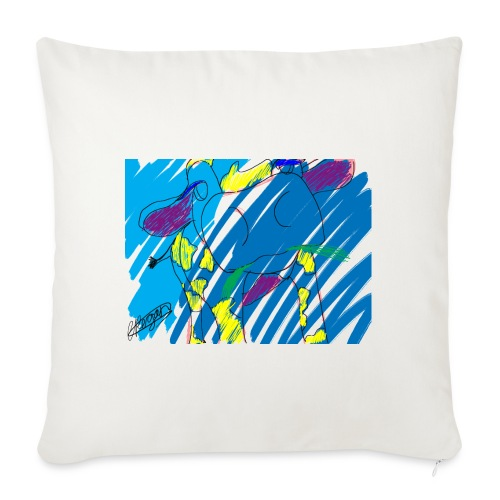 Signed Rainbow Cow - Sofa pillowcase 17,3'' x 17,3'' (45 x 45 cm)