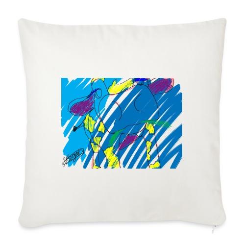 Signed Rainbow Cow - Sofa pillowcase 17,3'' x 17,3'' (45 x 45 cm)