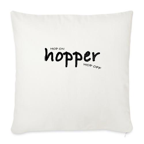 MuchoHop Hop On/Off (black) - Funda de cojín, 45 x 45 cm