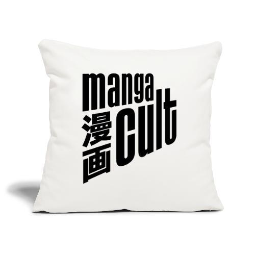 Manga Cult Logo Schwarz - Sofakissenbezug 44 x 44 cm