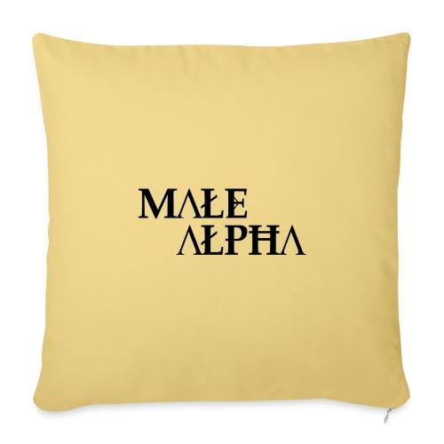 male alpha - Housse de coussin décorative 45x 45cm