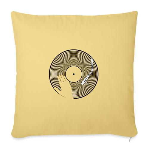 GIRADISCHI T SHIRT BIANCA - Copricuscino per divano, 45 x 45 cm