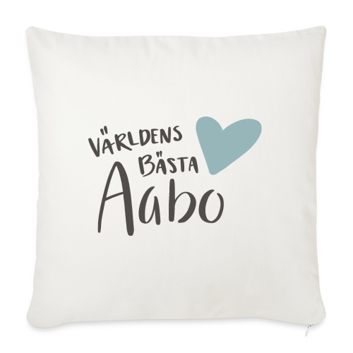 Världens bästa Aabo - Soffkuddsöverdrag, 45 x 45 cm