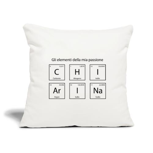 elementi chimici chiarina - Copricuscino per divano, 45 x 45 cm