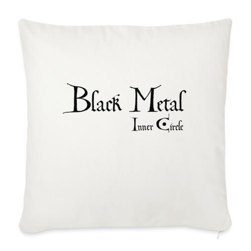 black metal Inner Circle, black ink - Sofa pillowcase 17,3'' x 17,3'' (45 x 45 cm)