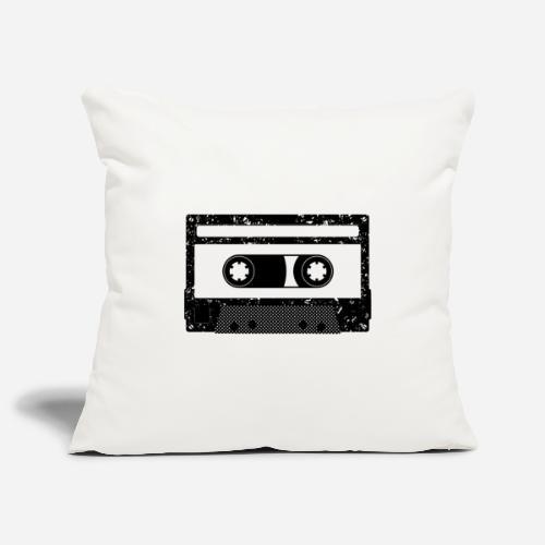 Kassette   Kompaktkassette   Compact Cassette - Sofakissenbezug 44 x 44 cm