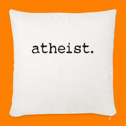 atheist BLACK - Sofa pillowcase 17,3'' x 17,3'' (45 x 45 cm)