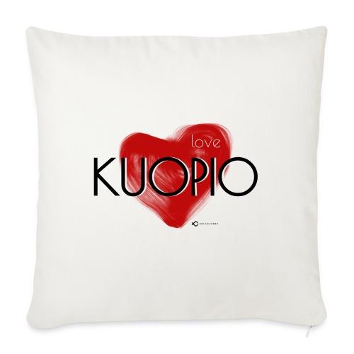 Love Kuopio teksti keskellä - Sohvatyynyn päällinen 45 x 45 cm