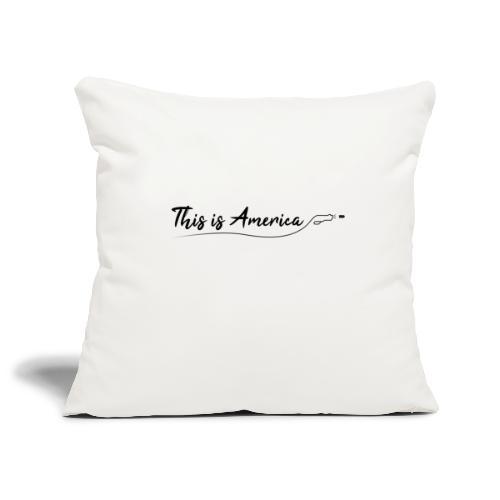 This is America - Gun violence - Housse de coussin décorative 45x 45cm