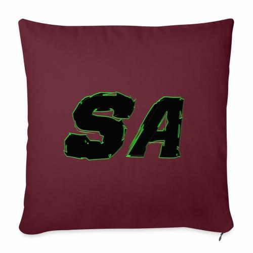 Svart SA Logo - Soffkuddsöverdrag, 45 x 45 cm