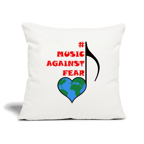 #MusicAgainstFear - Schwarz - Sofakissenbezug 44 x 44 cm