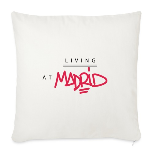 Living @ Madrid Street Letters - Housse de coussin décorative 45x 45cm