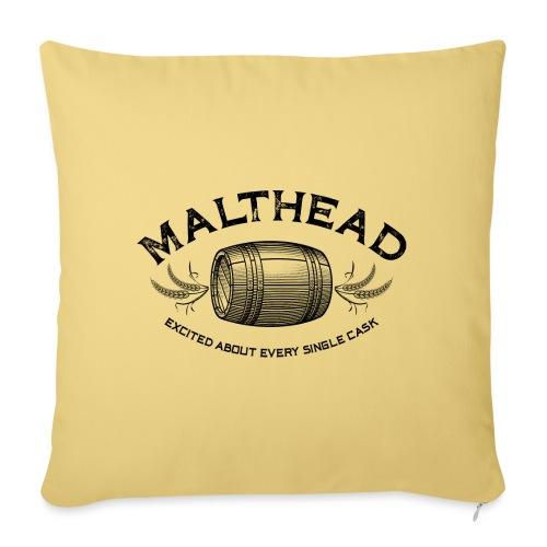 Malthead 01 Dark - Sofakissenbezug 44 x 44 cm