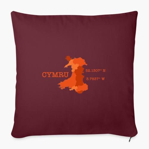 Cymru - Latitude / Longitude - Sofa pillowcase 17,3'' x 17,3'' (45 x 45 cm)
