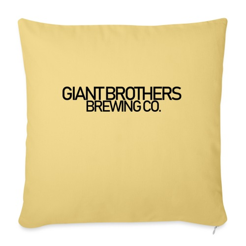 Giant Brothers Brewing co SVART - Soffkuddsöverdrag, 45 x 45 cm