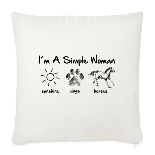 Vorschau: simple woman horse dog - Sofakissenbezug 44 x 44 cm
