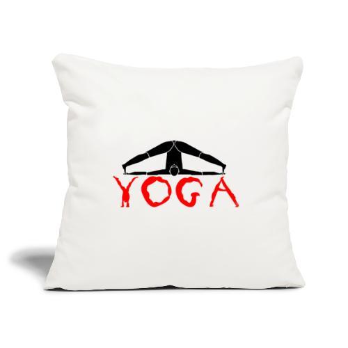 yoga yogi nero pace amore namaste sport art - Copricuscino per divano, 45 x 45 cm