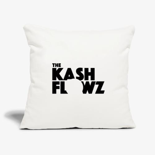 The Kash Flowz Official Black - Housse de coussin décorative 45x 45cm