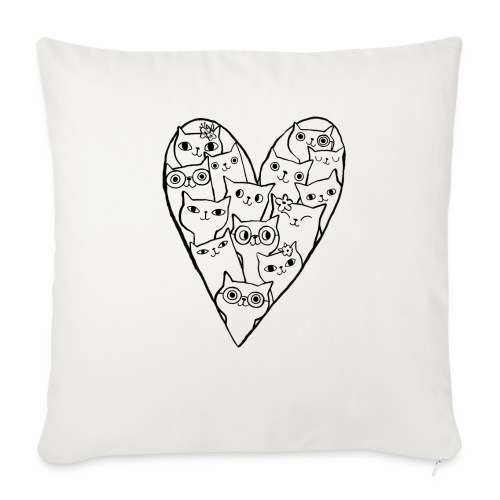 I Love Cats - Sofa pillowcase 17,3'' x 17,3'' (45 x 45 cm)