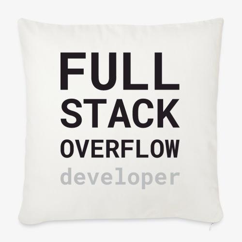 Full stack overflow developer - Sofa pillowcase 17,3'' x 17,3'' (45 x 45 cm)