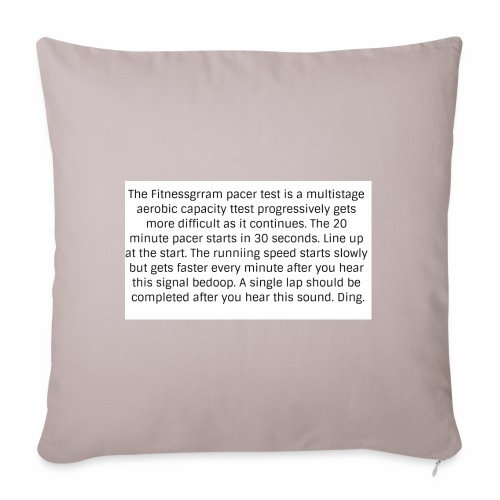 FitnessGram pacer Test - Sofa pillowcase 17,3'' x 17,3'' (45 x 45 cm)