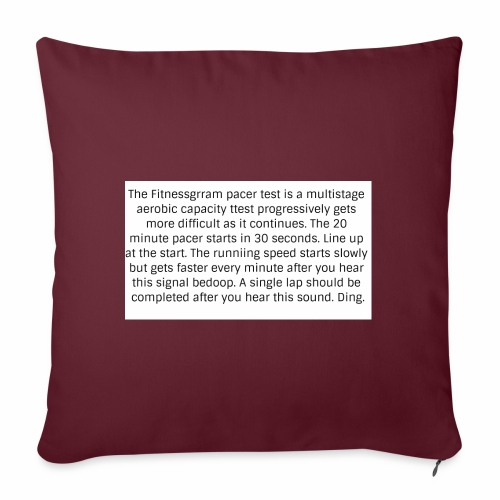 FitnessGram pacer Test - Sofa pillowcase 17,3'' x 17,3'' (45 x 45 cm)