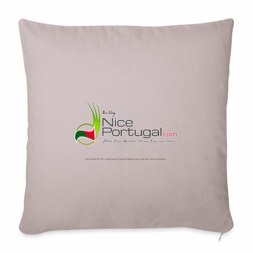 NicePortugal.com Logo - Copricuscino per divano, 45 x 45 cm