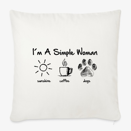 simple woman dog - Sofakissenbezug 44 x 44 cm