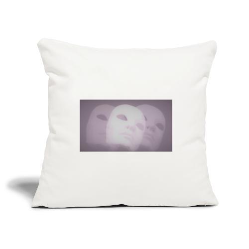 Maschere lilla - Copricuscino per divano, 45 x 45 cm