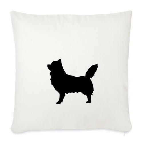 Chihuahua pitkakarva musta - Sohvatyynyn päällinen 45 x 45 cm