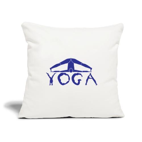yoga yogi blu namaste pace amore hippie sport art - Copricuscino per divano, 45 x 45 cm