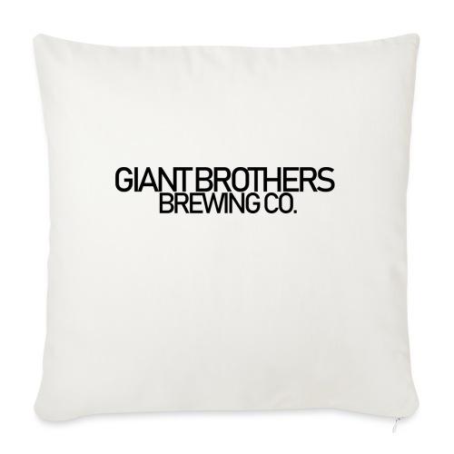 Giant Brothers Brewing co SVART - Soffkuddsöverdrag, 45 x 45 cm